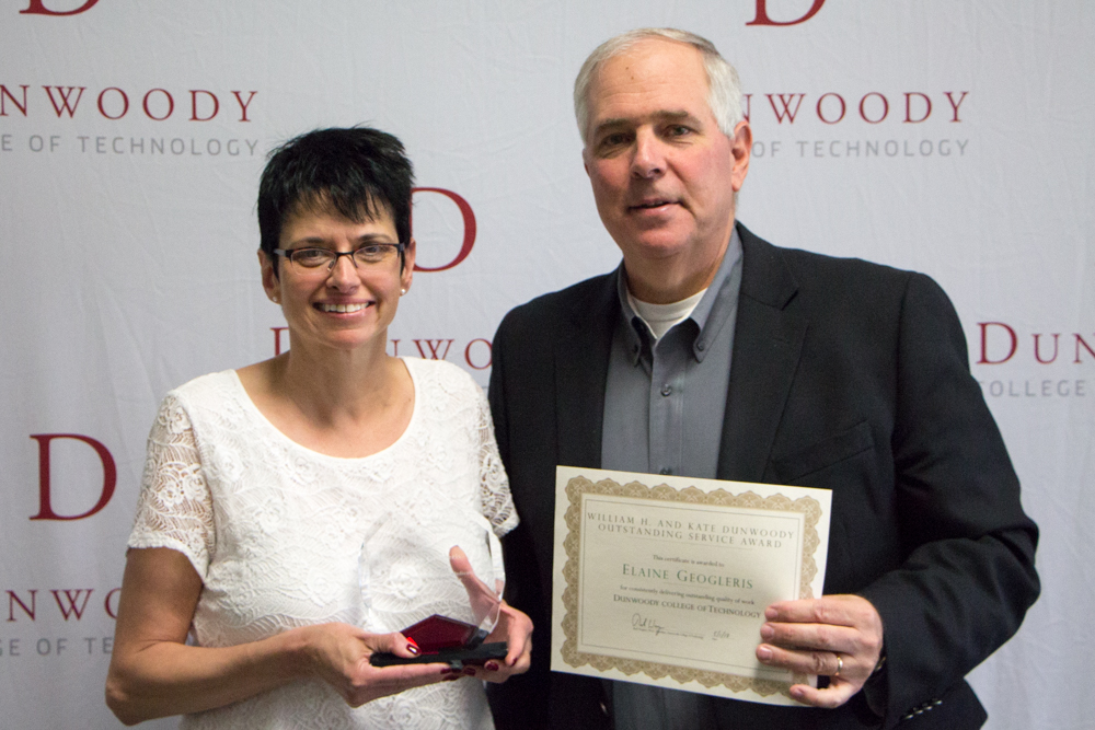 From left to right: Senior Admissions Counselor Elaine Geogleris and President Rich Wagner